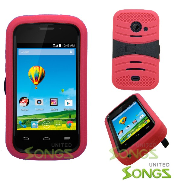 ZTE Zinger Z667 Prelude 2 Heavy Duty Case With Kickstand Red/Black