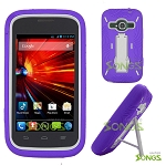ZTE Concord II Z730(T-mobile, MetroPCS) Heavy Duty Case with Kickstand Purple/White