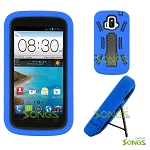ZTE Z740G Sonata 4G/Radiant(AT&T) Heavy Duty Case with Kickstand Black/Blue