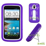 ZTE Z740G Sonata 4G/Radiant(AT&T) Heavy Duty Case with Kickstand Purple/White