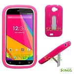 BLU Studio 5.0K/5.0E D530K Heavy Duty Case with Kickstand Pink/White