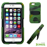 iPhone 6S/6 Heavy Duty Case with Kickstand & Screen Protector Camouflage