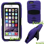 iPhone 6S/6 Heavy Duty Case with Kickstand & Screen Protector Purple/Black