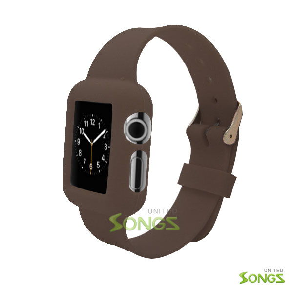 I Watch (1.8inch/42mm) TPU(Gel) Case With Belt Brown
