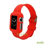 I Watch (1.6inch/38mm) TPU(Gel) Case With Belt Red