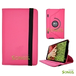 LG G Pad 8.3 360 Degree Rotating Leather Case Pink