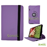 LG G Pad 8.3 360 Degree Rotating Leather Case Purple