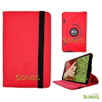 LG G Pad 8.3 360 Degree Rotating Leather Case Red