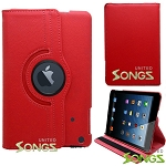 iPad Mini 1/2/3 360 Degree Rotating Leather Case Red