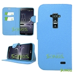 LG G Flex D959 D950 LS995 Wallet Case Light Blue