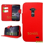 LG G Flex D959 D950 LS995 Wallet Case Red