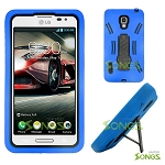 LG Optimus F7 US780 Heavy Duty Case with Kickstand Blue/Black