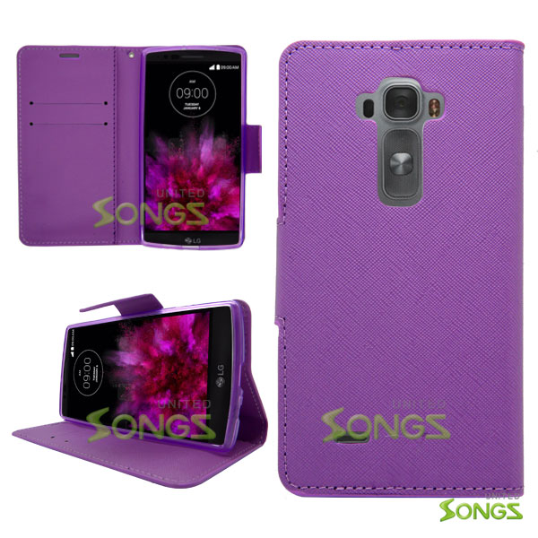 LG G Flex2 Wallet Case Purple