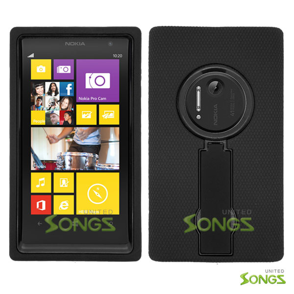 Nokia Lumia 1020 Heavy Duty Case with Kickstand Black/Black