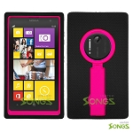 Nokia Lumia 1020 Heavy Duty Case with Kickstand Black/High Pink