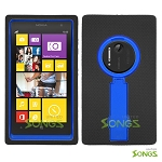 Nokia Lumia 1020 Heavy Duty Case with Kickstand Black/Blue