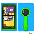 Nokia Lumia 1020 Heavy Duty Case with Kickstand Ocean Blue/Green