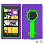 Nokia Lumia 1020 Heavy Duty Case with Kickstand Purple/Green