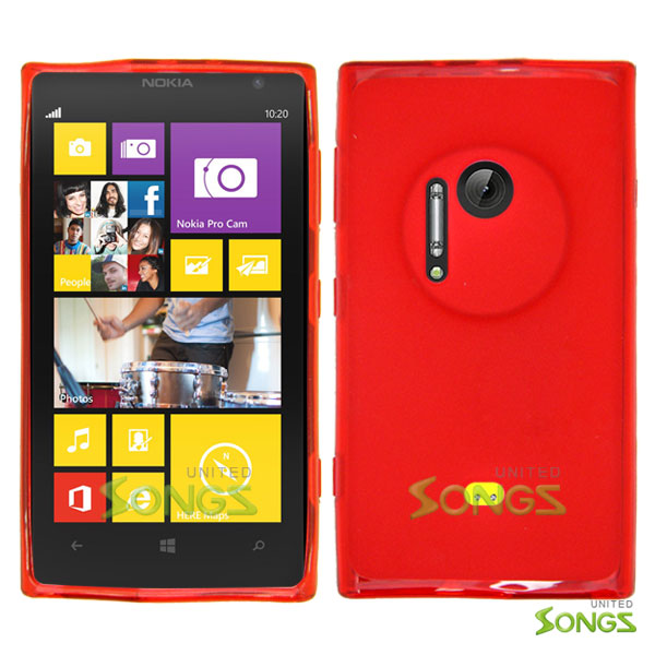 Nokia Lumia 1020 Heavy Duty Case with Kickstand Red/White