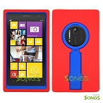 Nokia Lumia 1020 Heavy Duty Case with Kickstand Red/Blue