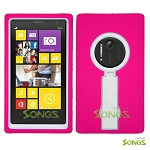 Nokia Lumia 1020 Heavy Duty Case with Kickstand High Pink/White