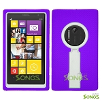 Nokia Lumia 1020 Heavy Duty Case with Kickstand Purple/White