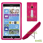 Nokia Lumia 1520 (AT&T) Heavy Duty Case with Kickstand Pink/White