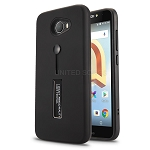 Alcatel A30 New Hybrid Finger Grip Case With Kickstand Black