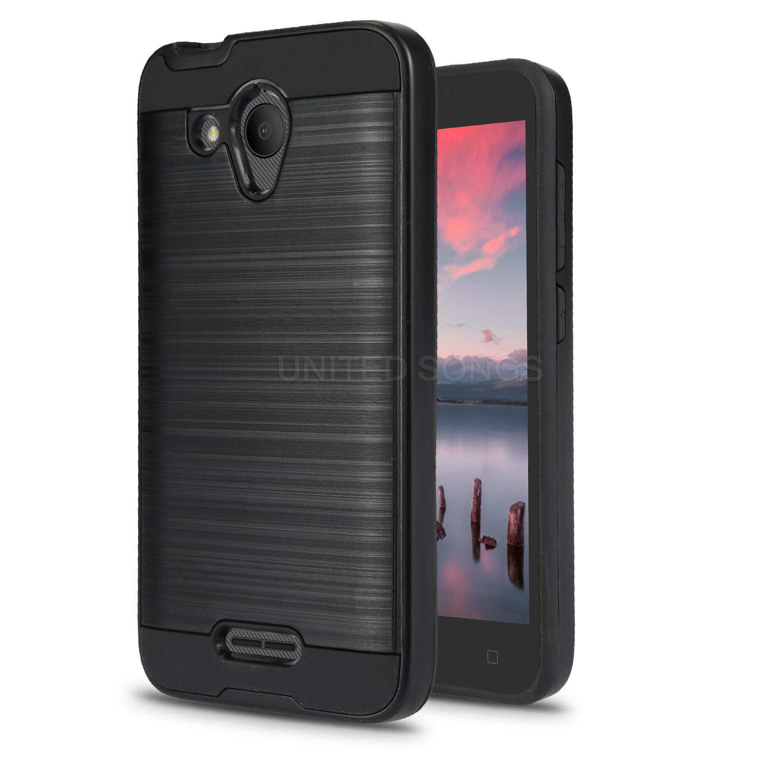 timeless design 85b44 92800 Alcatel Tetra 5041C Hybrid Case Black