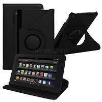 Amazon Kindle Fire 7 Inch (2019) New 360 Degrees Rotating Case Black