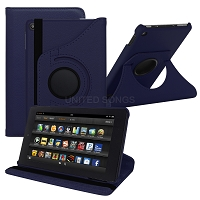 Amazon Kindle Fire HD 7 (2017) 360 Degrees Rotating Case Blue