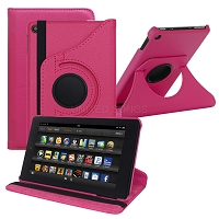 Amazon Kindle Fire 7 Inch (2019) New 360 Degrees Rotating Case Pink