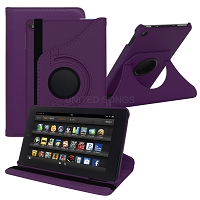 Amazon Kindle Fire 7 Inch (2019) New 360 Degrees Rotating Case Purple