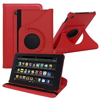 Amazon Kindle Fire HD 7 (2017) 360 Degrees Rotating Case Red