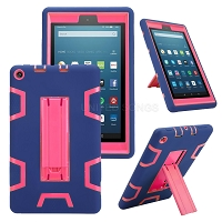 Amazon Kindle Fire 7 Inch (2019) New Enhanced Heavy Duty Case With Kickstand Blue/Pink