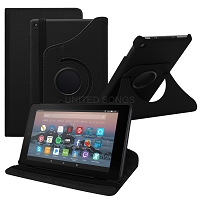 Amazon Kindle Fire HD 8 (2017) 360 Degree Rotating Leather Case Black