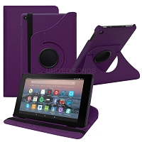 Amazon Kindle Fire HD 8 (2017) 360 Degree Rotating Leather Case Purple