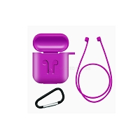 AirPods New Unique Style Case With Strap Cable Purple