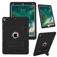 iPad Air 2019/iPad Pro 10.5 Inch Newly Enhanced Heavy Duty Case With Kickstand Black/Black
