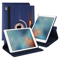 iPad 10.2 inch(2019) New Leather Case With Stylus Pen Slot Blue