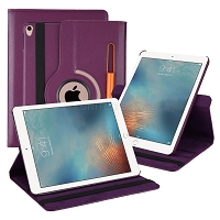 iPad 10.2 inch(2019) New Leather Case With Stylus Pen Slot Purple