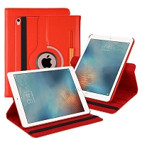 iPad 10.2 inch(2019) New Leather Case With Stylus Pen Slot Red