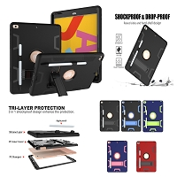 iPad Pro 12.9 (2018-2020) New DFKP Heavy Duty Defender Case With Kickstand & Stylus Pen Slot