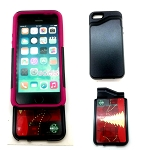 New iPhone 5S/5/SE Heavy Duty Case With Card Holder Black/Pink (Promotion)