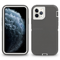 iPhone 11 Pro New Heavy Duty Defender Case Gray/White