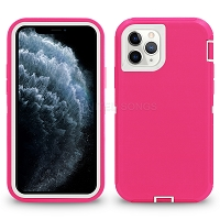 iPhone 11 Pro New Heavy Duty Defender Case Pink/White