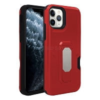 iPhone 11 Pro Max New Heavy Duty Case With Kickstand & Card Holder Red