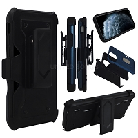 Samsung Galaxy A11 New Heavy Duty Kickstand With Card Holder & Clip