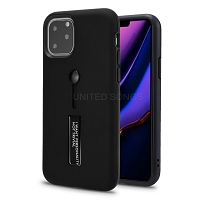 iPhone 11 Pro New Hybrid Finger Grip Case With Kickstand Black