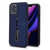 iPhone 11 Pro New Hybrid Finger Grip Case With Kickstand Blue